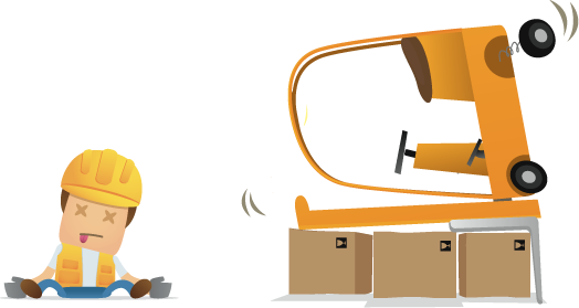 Slip clipart industrial accident. Forklift truck accidents at