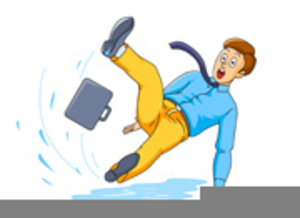 Slip clipart slipped. Of person slipping on