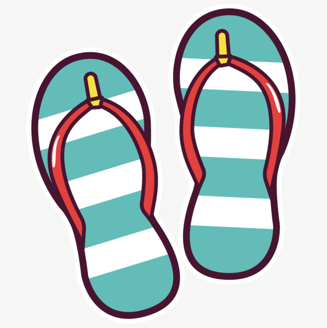 Slippers clipart. Cartoon hand painted zip banner library stock
