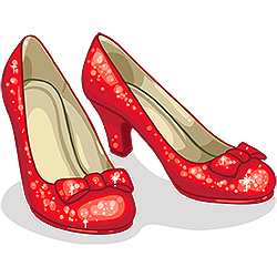 Slippers clipart red. Ruby