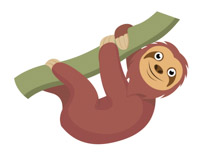 Search results for clip. Sloth clipart svg free download