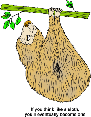 Sloth clipart. Image if you think