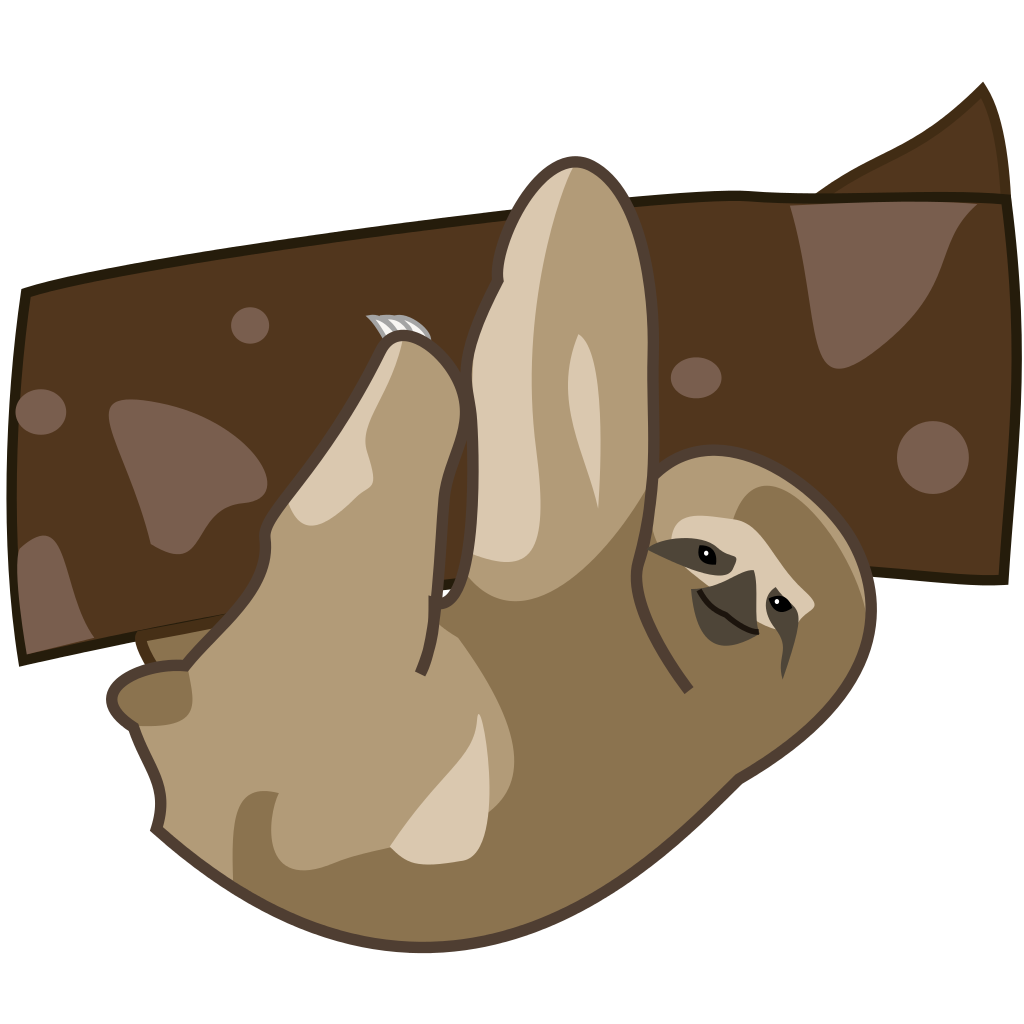 cute sloth png