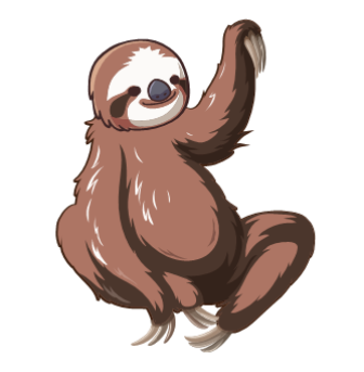 Welcome to the guy. Sloth clipart sloth transparent png black and white download