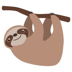 Sloth clipart sloth transparent. Tumblr overlays pinterest cute