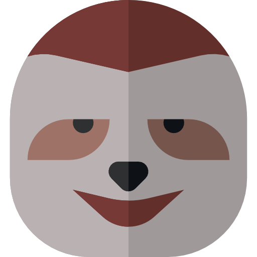 Sloth face png. Icon svg