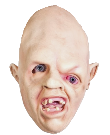 Sloth face png. Goonies style mask halloween
