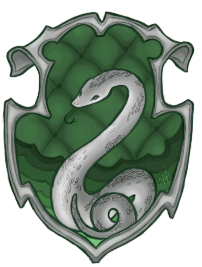 Slytherin crest png. By anchoredtether on deviantart