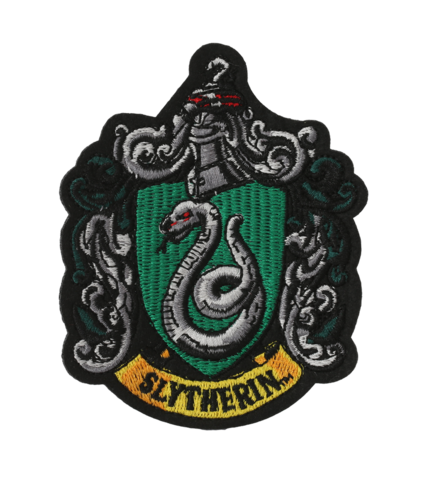 Slytherin crest png. Embroidered patch l harry