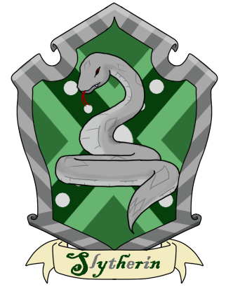 Slytherin drawing. Collection of symbol