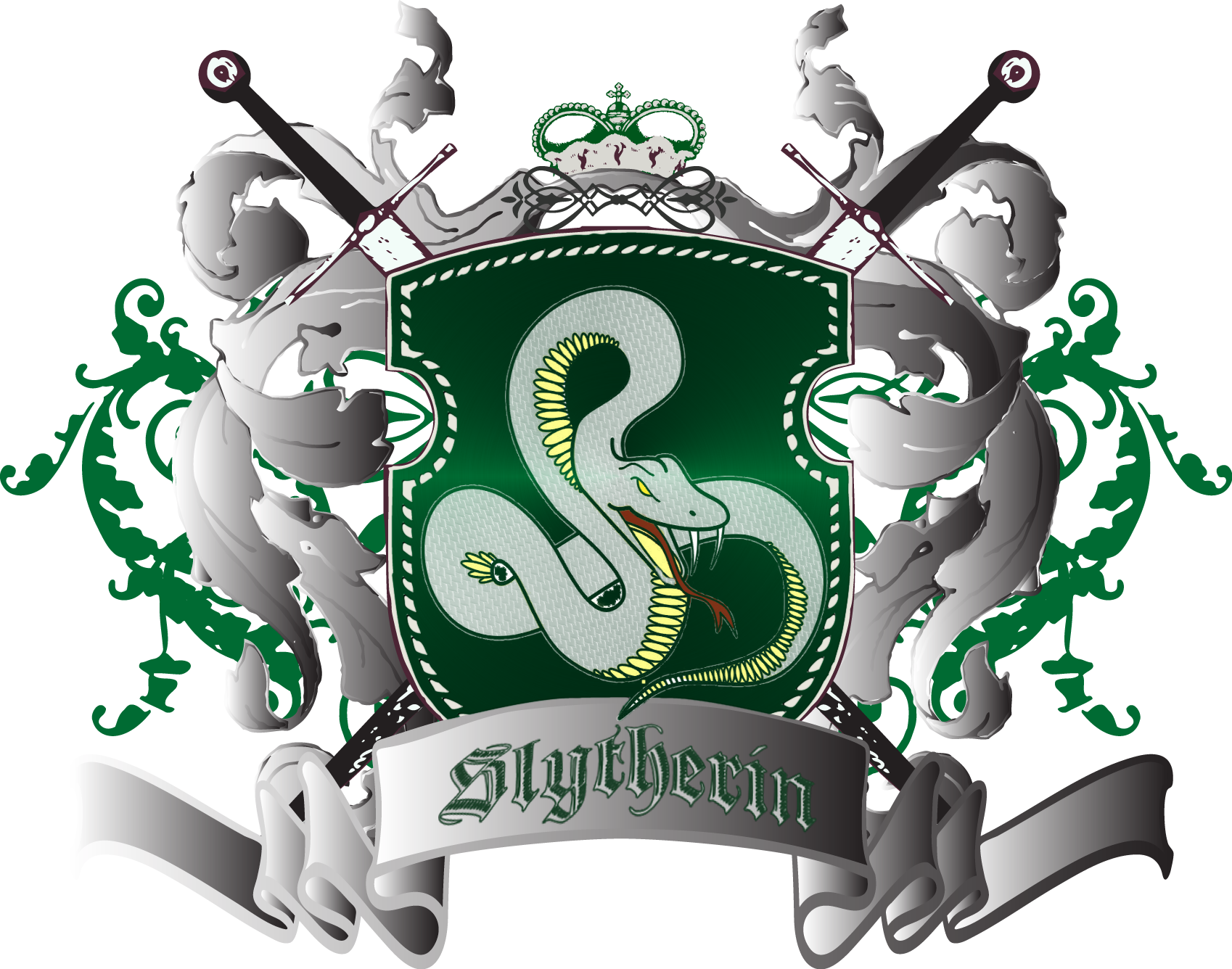 Slytherin drawing banner. House ideas google search