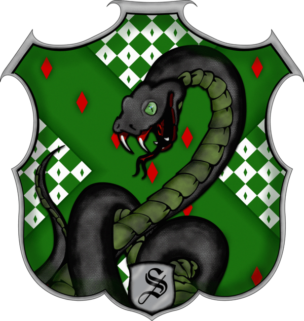 Slytherin drawing character. Snake art pictures