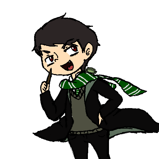 Slytherin transparent moriarty. Chibi by xallons y