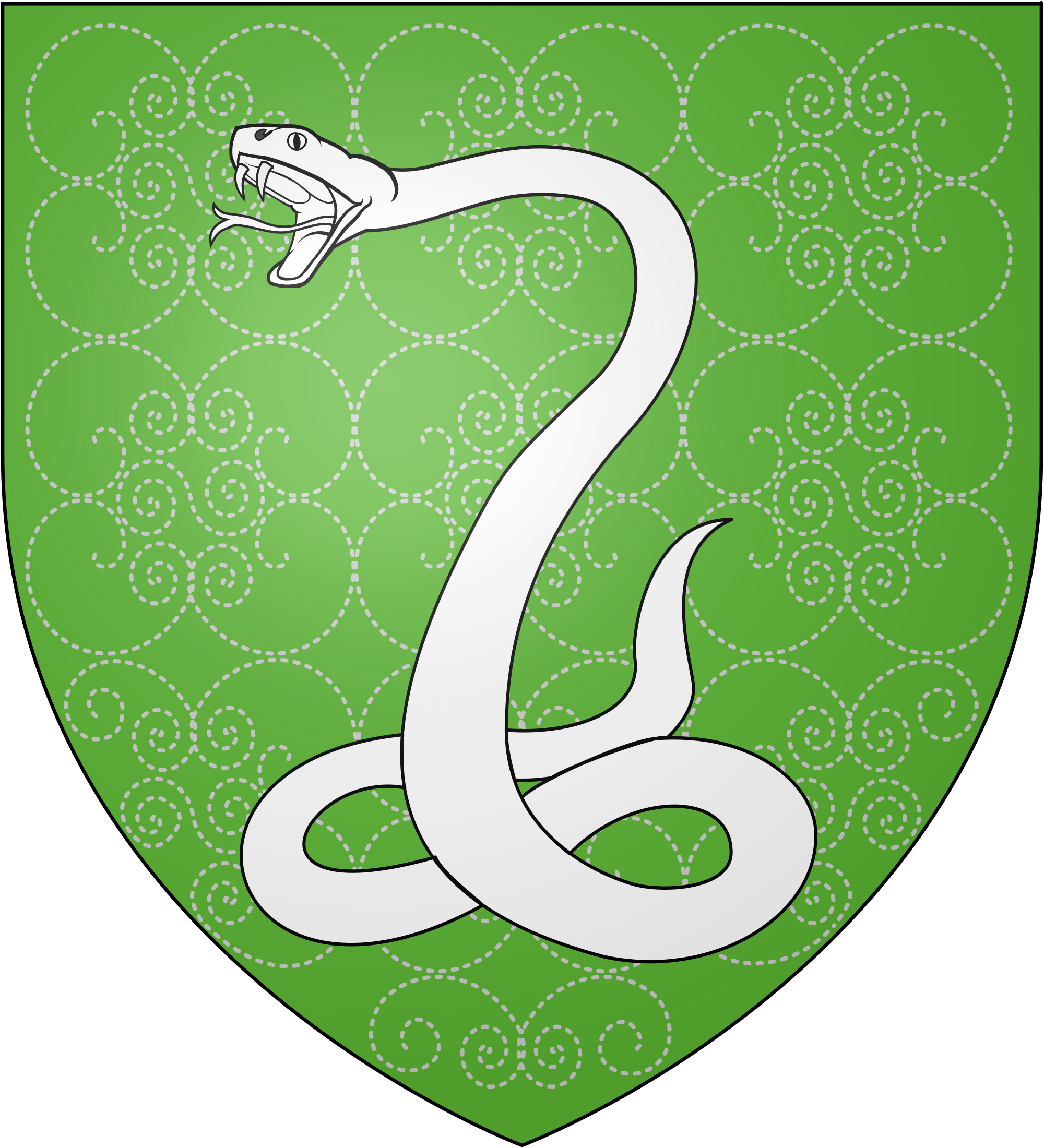 Slytherin transparent svg. File blason serpentard wikimedia
