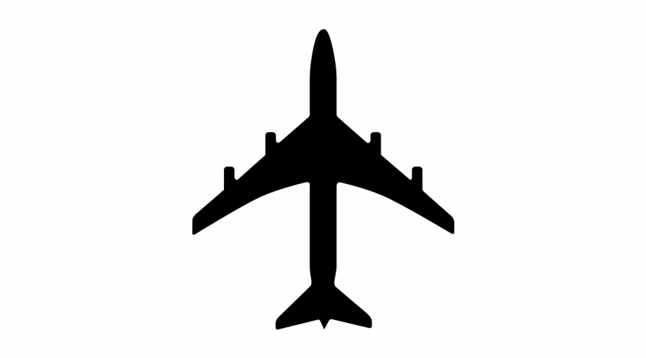 Small plane. Clipart airplane silhouette transparent