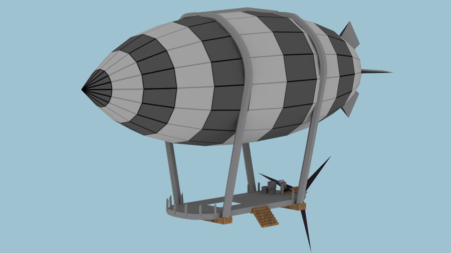 Small airship. Blimp d model unknown