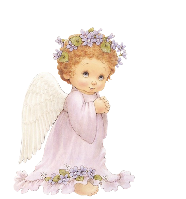Small angelic angels png. Cute angel with purple