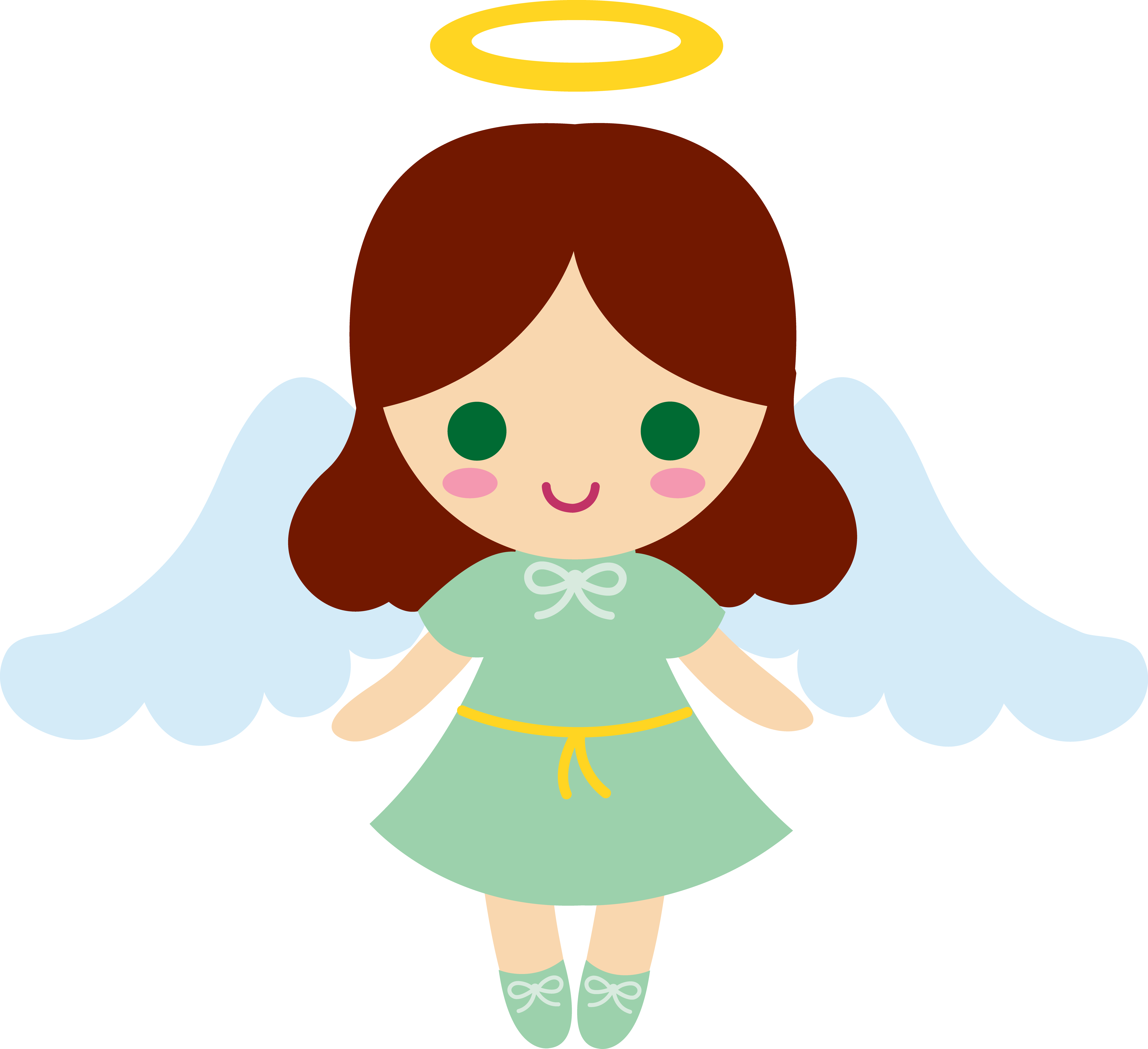 Small angelic angels png. Angel clipart for kids
