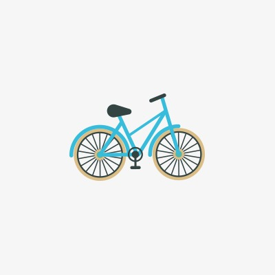 Small bicycle. Bike clipart icon transparent