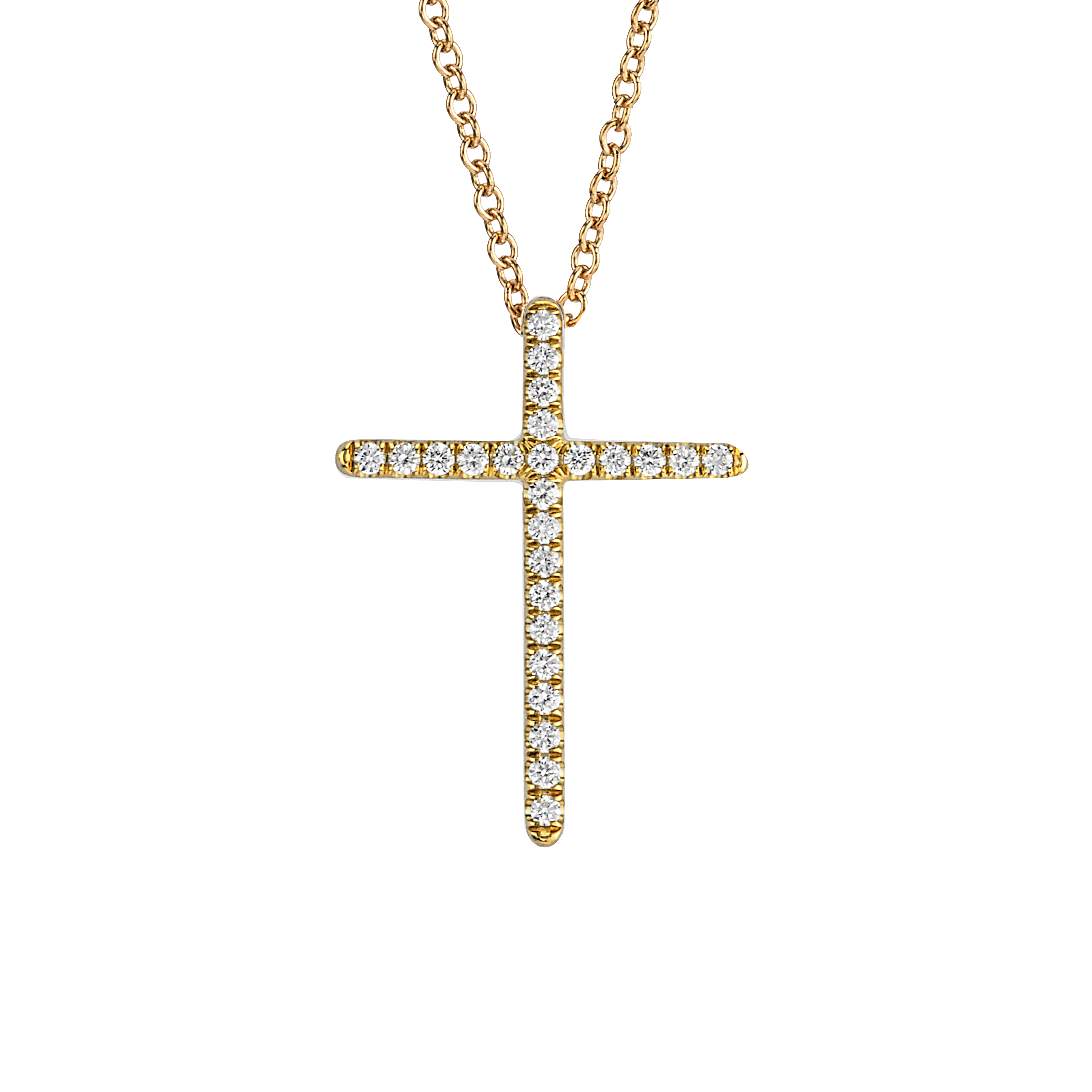 Small chain png. Necklace cross yellow gold