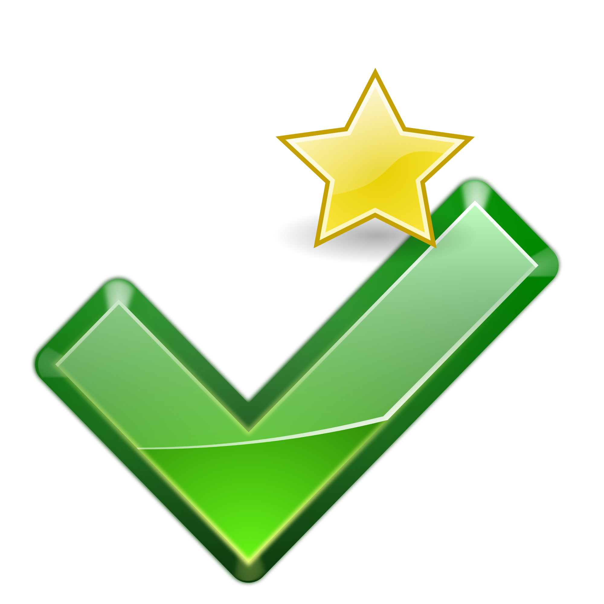 Small check mark png. File starred checkmark star