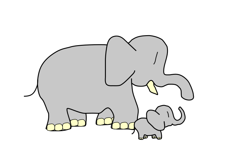 Small clipart. Free elephant and animations