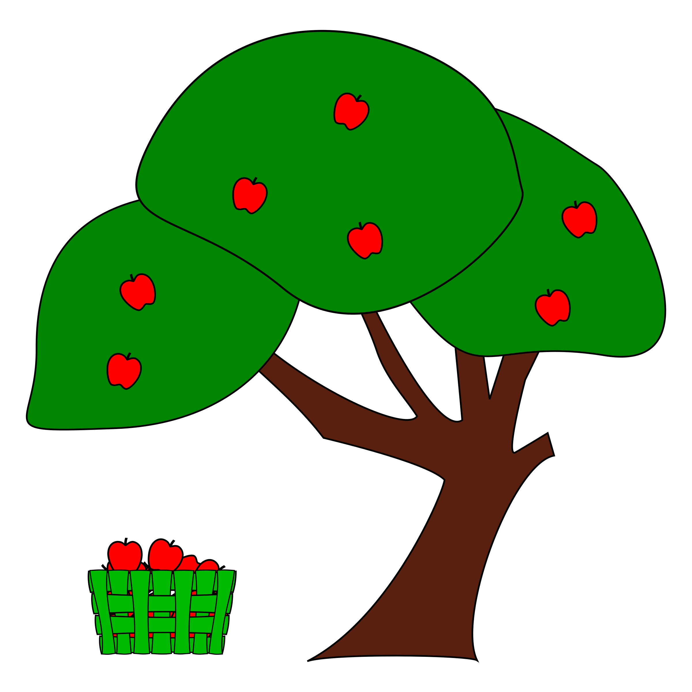 Small clipart apple tree. Big image png