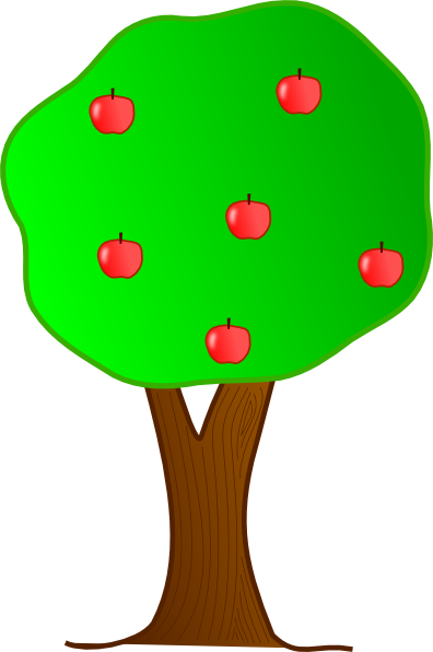 Small clipart apple tree. Clip art library trees
