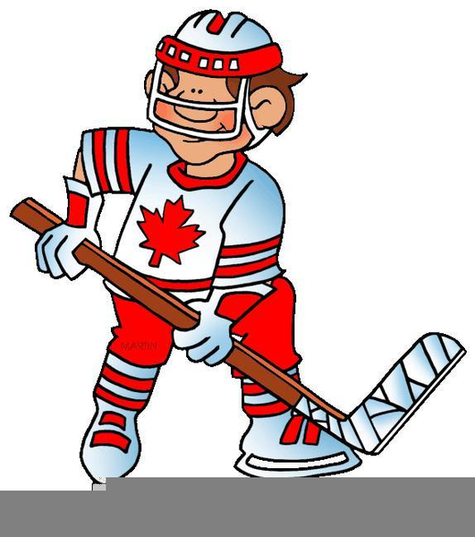 Small clipart hockey. Player free images at