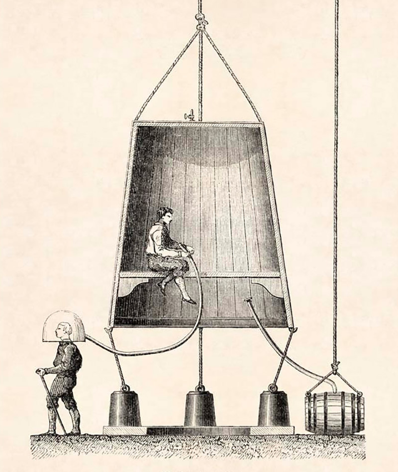 Brown diving bell