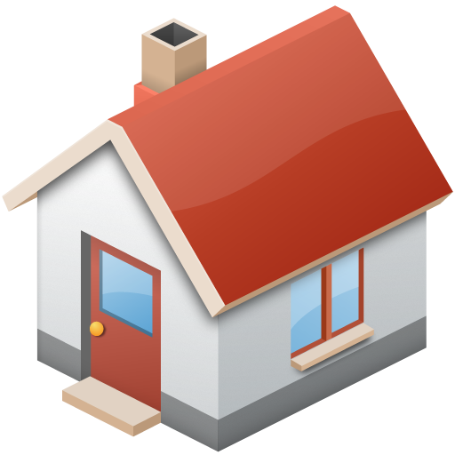 Home transparent simple. Small house png image