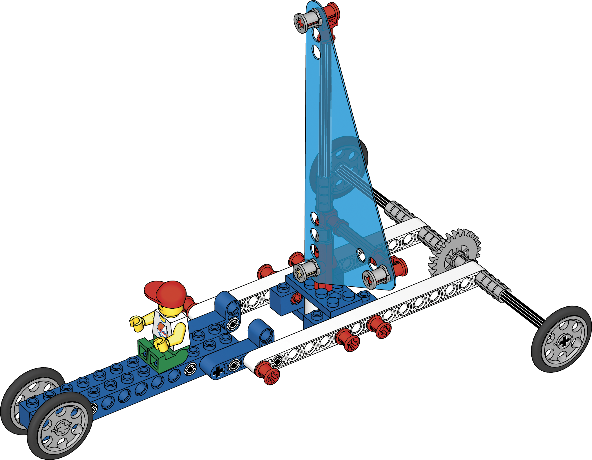 Large land yacht. Simple powered machines lesson