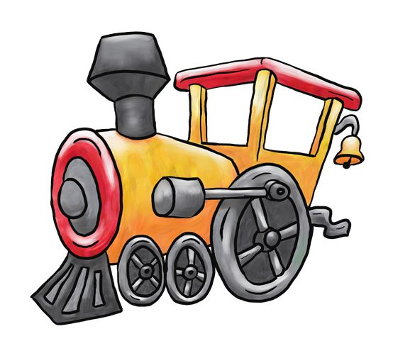 Small locomotive. Train pictures cartoon clipart