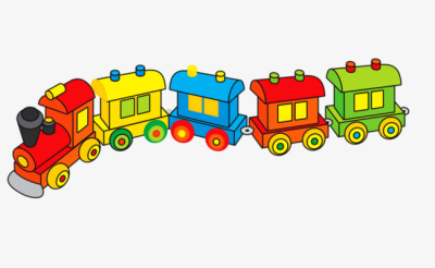 Small locomotive. Free png images vectors