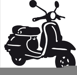 Small scooter. Free motor clipart images