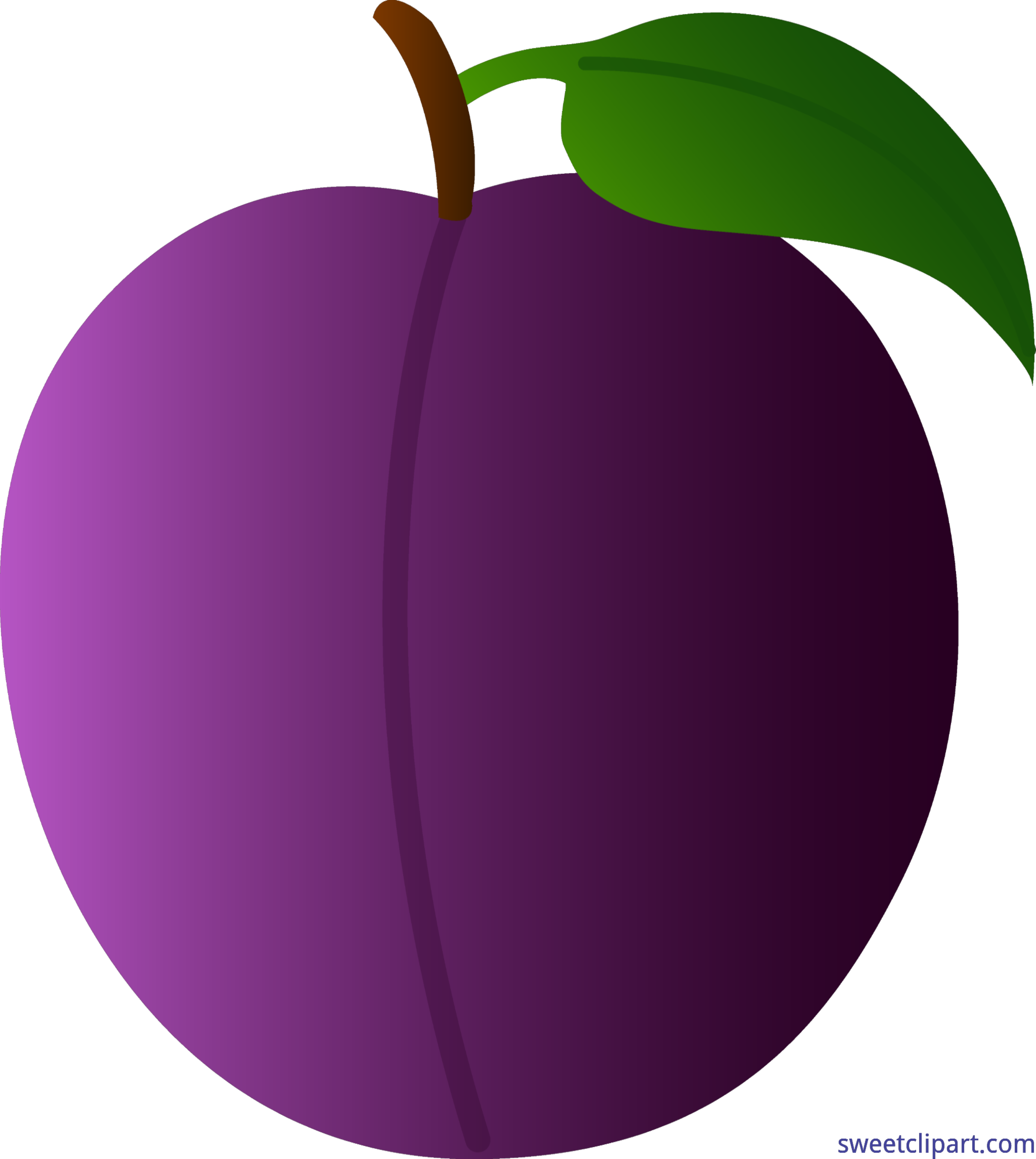Large plum. Clipart real transparent free