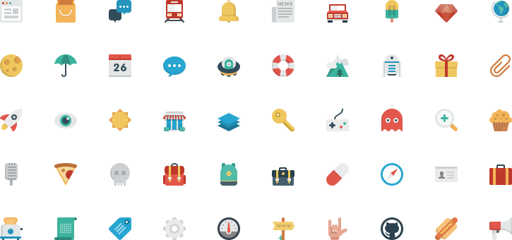Small png icons. Smallicons big set off