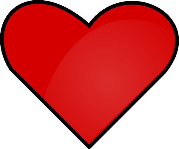 Small red heart png. Clip art at clker