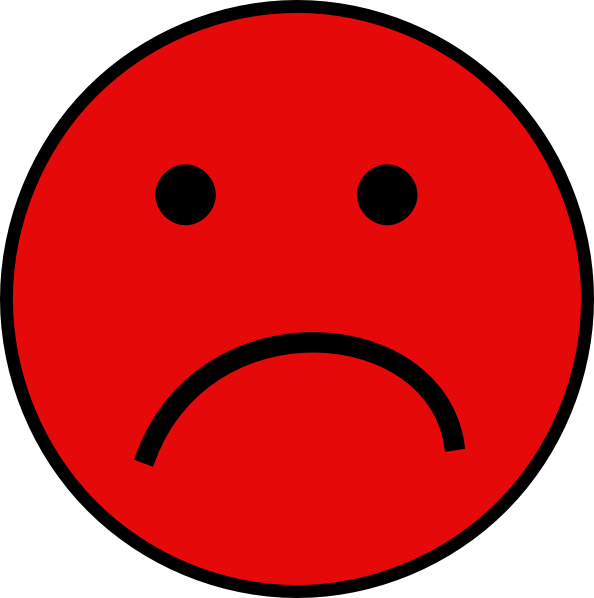 Small sad face png. Red clip art at