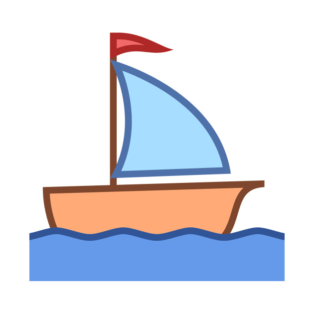 Small ship. Clipart little boat