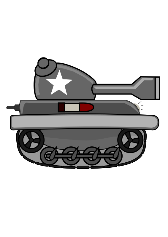Small tank. Free clipart cartoon firestorm