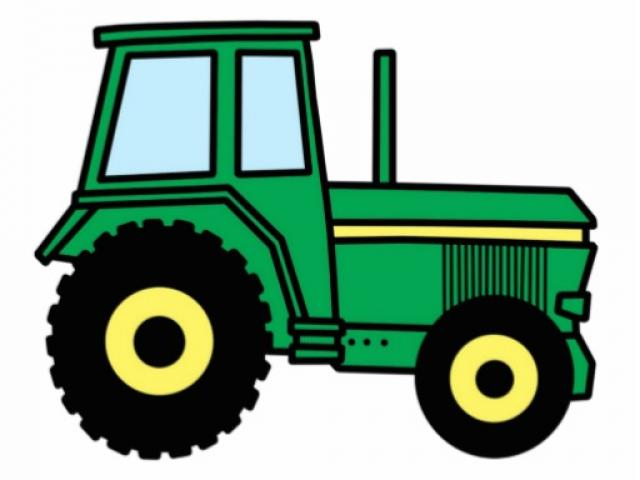 Small tractor. Free clipart different download