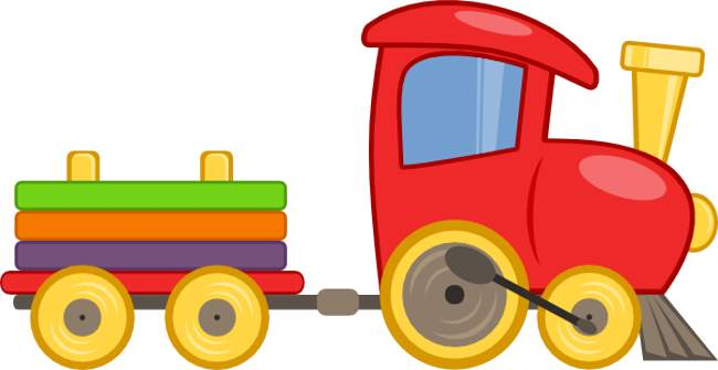 Small train. Free pictures for children