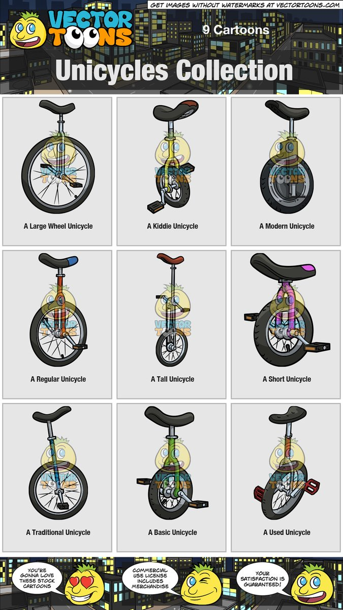 Small unicycle. Unicycles collection
