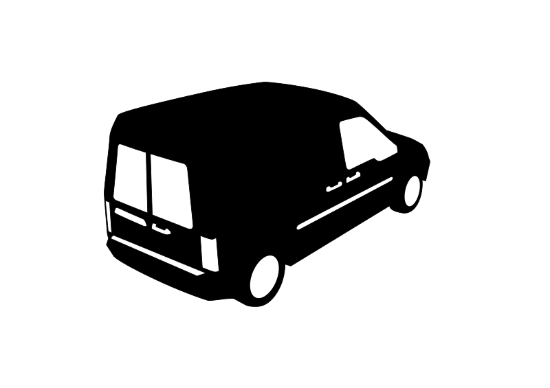 Small van. Free clip art by