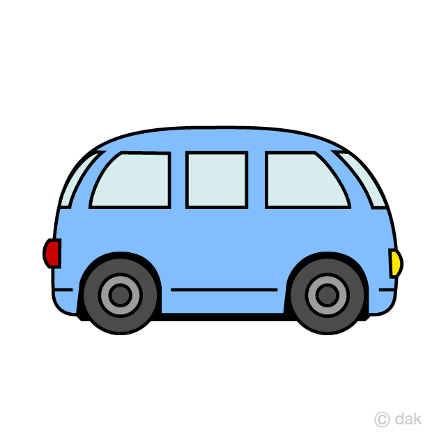Small van. Free cute clipart image