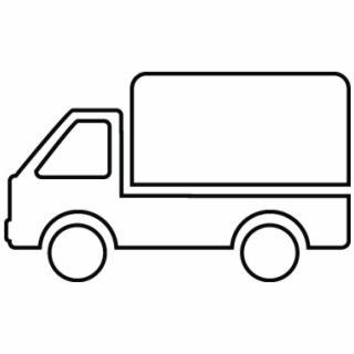 Small van. Free delivery truck png
