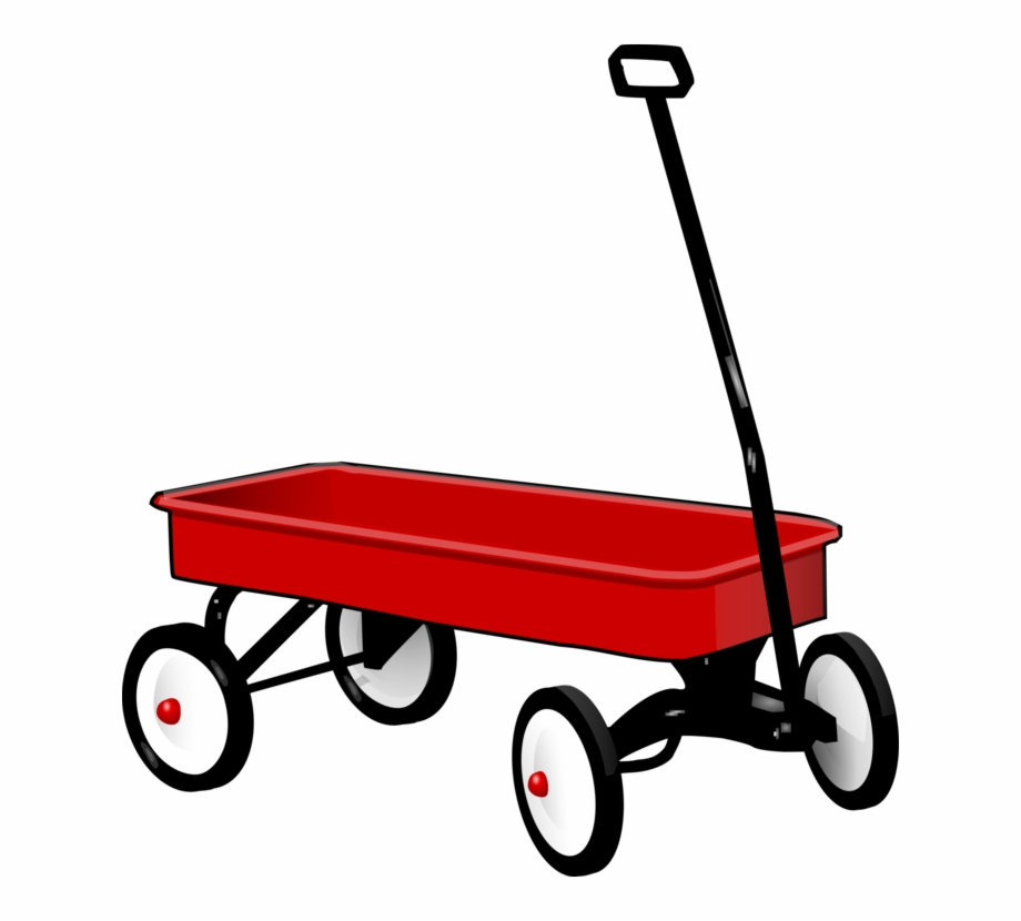 Red wagon. Covered cart radio flyer