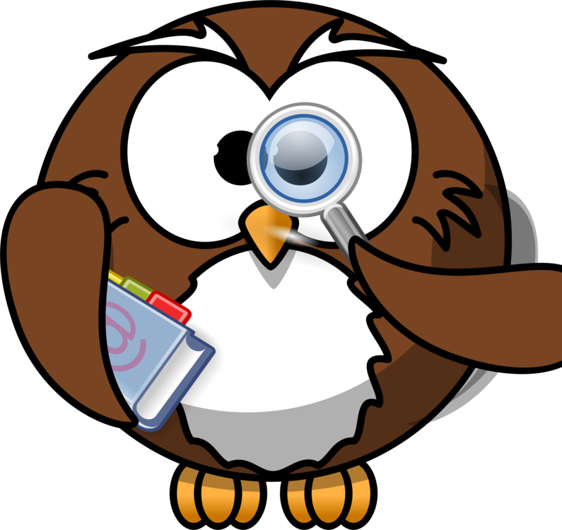 Smart drawing cartoon. Owl computer icons download