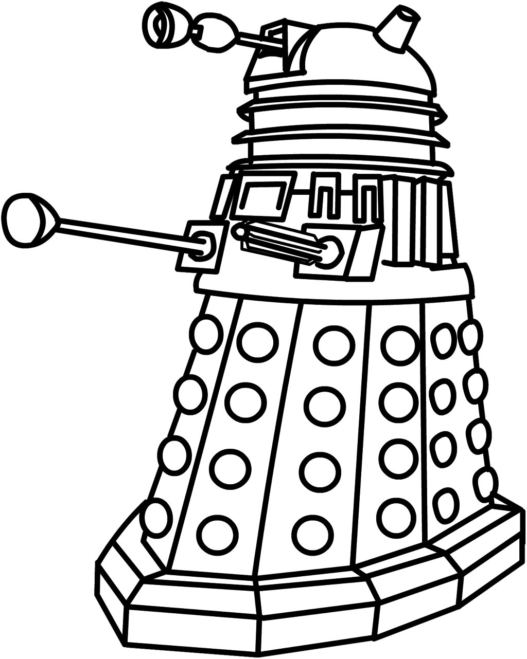 Smart drawing marine. Collection of free dalek
